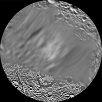 Click here for larger version of PIA08418 Unlabeled Dione Terrain Section