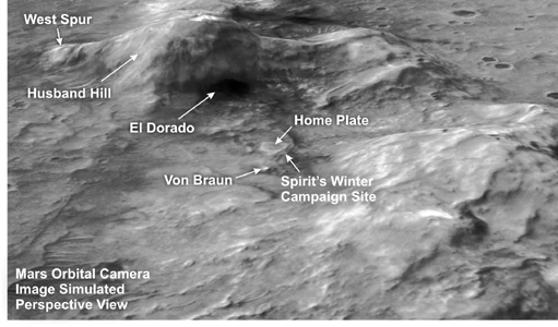 Click here for poster version of PIA09087 Oblique View of Columbia Hills