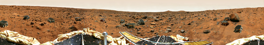 Click here for larger version of PIA09105 Mars Pathfinder gallery panorama