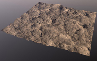 Click here for larger version of PIA09105 topographic perspective of landing site region