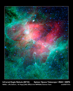 Click here for poster version of PIA09107 Infrared Eagle Nebula [M16]