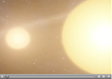 Click here for animation of PIA09221 Two Suns Raise Family of Planetary Bodies