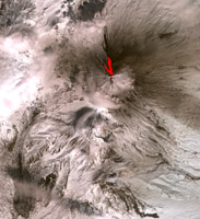Click here for full resolution Klyuchevskoy stratovolcano PIA09334