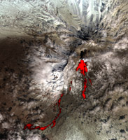 Click here full resolution Sheveluch stratovolcano PIA09334