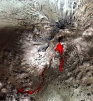 Click here full resolution Sheveluch stratovolcano PIA09334