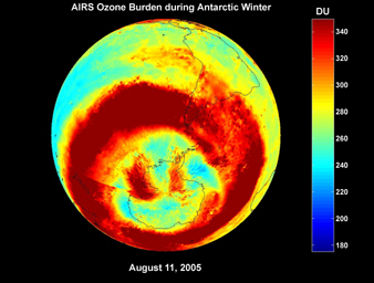 Click here for movie of PIA09938 AIRS Ozone Burden During Antarctic Winter