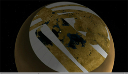 Click here for movie of PIA10008 Titan's North Polar Region