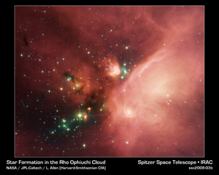 Click here for poster version of PIA10182 Young Stars in Their Baby Blanket of Dust