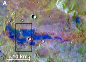 Click here for annotated version of PIA10247 Chloride Salt Deposit in Southern Highlands of Mars