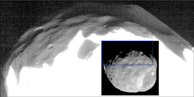 Click here for larger version of inset for PIA10370 'Marsshine' on Shadowed Part of Phobos