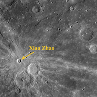 Click here for annotated version of PIA10668 Xiao Zhao's Rays Paint Mercury's Surface