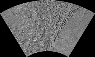 Click here for larger version of PIA11008 Unlabeled Ithaca Chasma Terrain Section