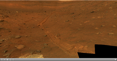 Click on the image for 'Calypso' Panorama of Spirit's View from 'Troy' (QTVR)