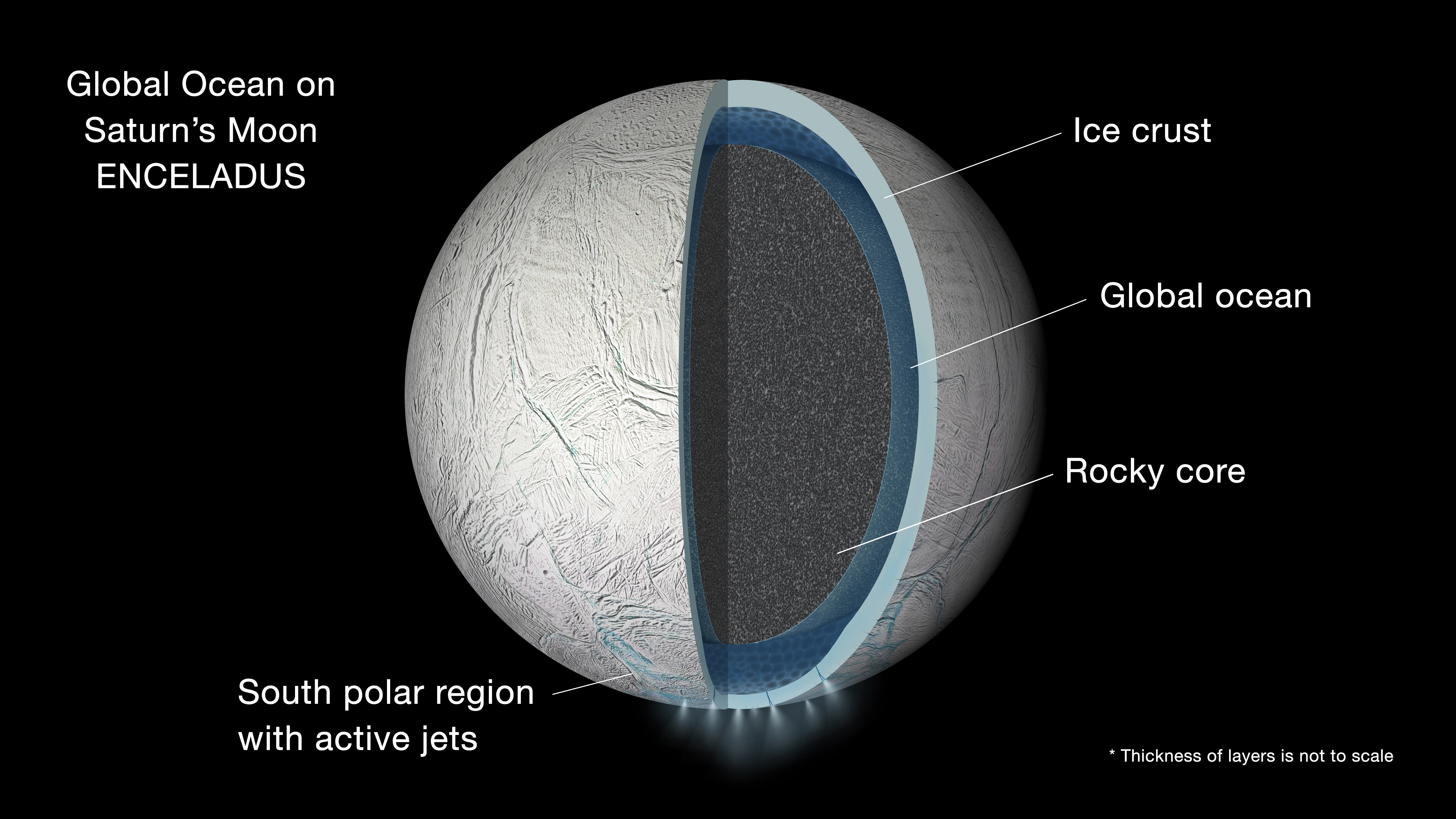 Saturn's moon Enceladus global ocean model