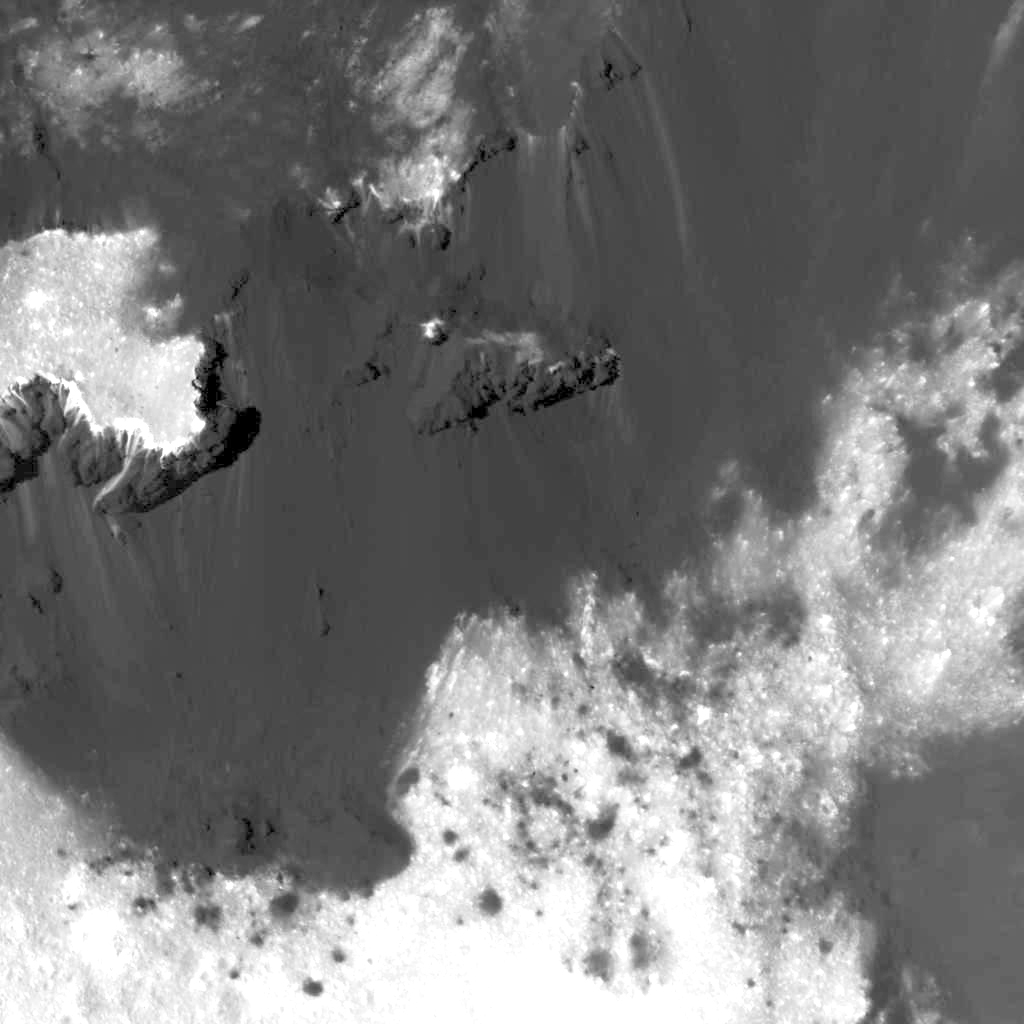 The western side of Cerealia Facula, from an altitude of about 21 miles (NASA/JPL-Caltech/UCLA/MPS/DLR/IDA)