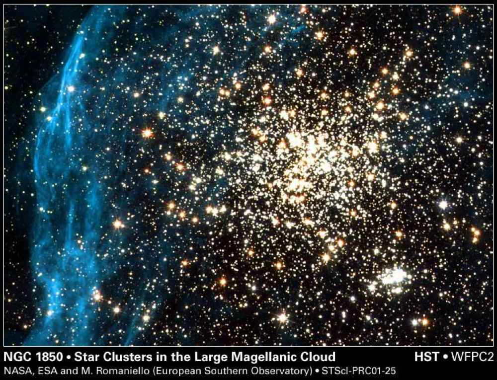 By spying on a neighboring galaxy, NASA's Hubble Space Telescope has captured an image of a young, globular-like star cluster -- a type of object unknown in our Milky Way Galaxy.