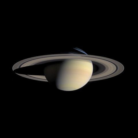 While cruising around Saturn in early October 2004, Cassini captured a series of images that have been composed into the largest, most detailed, global natural color view of Saturn and its rings ever made.