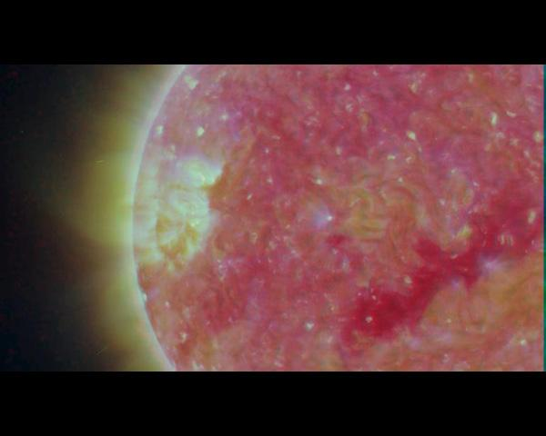 The structure of the Sun's corona shows well in this image from NASA's Solar TErrestrial RElations Observatory (STEREO) satellite.