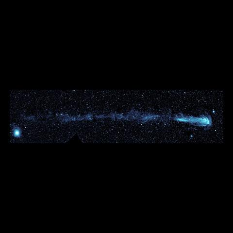 New ultraviolet images from NASA's Galaxy Evolution Explorer shows a speeding star that is leaving an enormous trail of 'seeds' for new solar systems. The star, named Mira (pronounced my-rah) after the latin word for 'wonderful.'