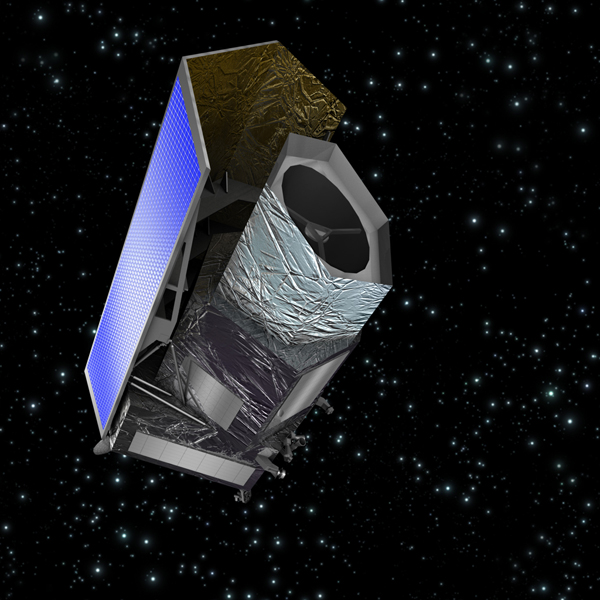 ESA's Euclid spacecraft, shown in this artist's impression, is scheduled to launch in 2020 with participation from NASA.