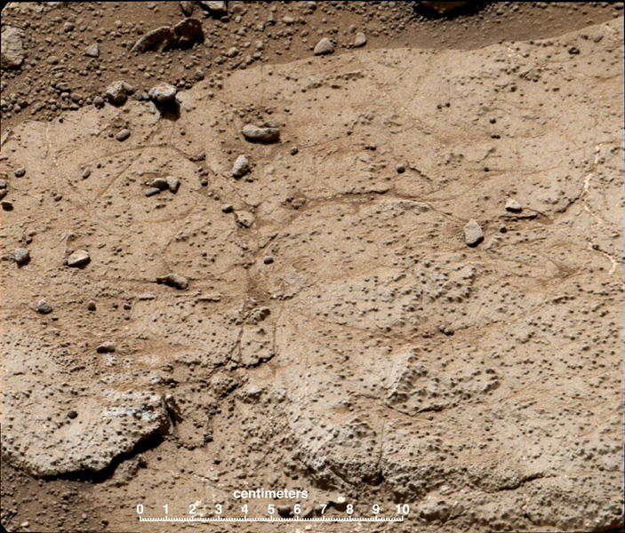 'Cumberland' has been selected as the second target for drilling by NASA's Mars rover Curiosity. The rover has the capability to collect powdered material from inside the target rock and analyze that powder with laboratory instruments.