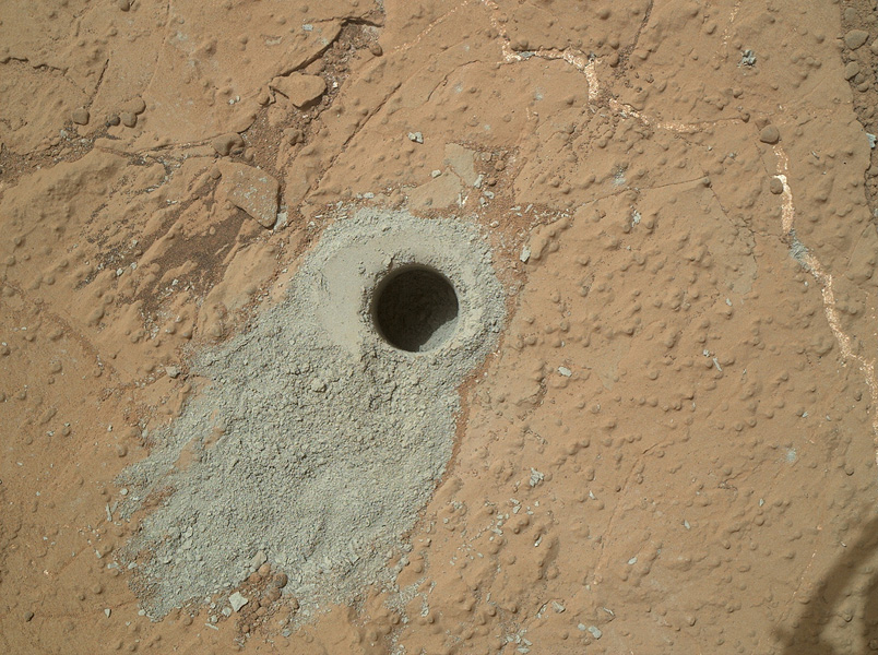 NASA's Mars rover Curiosity drilled into this rock target,