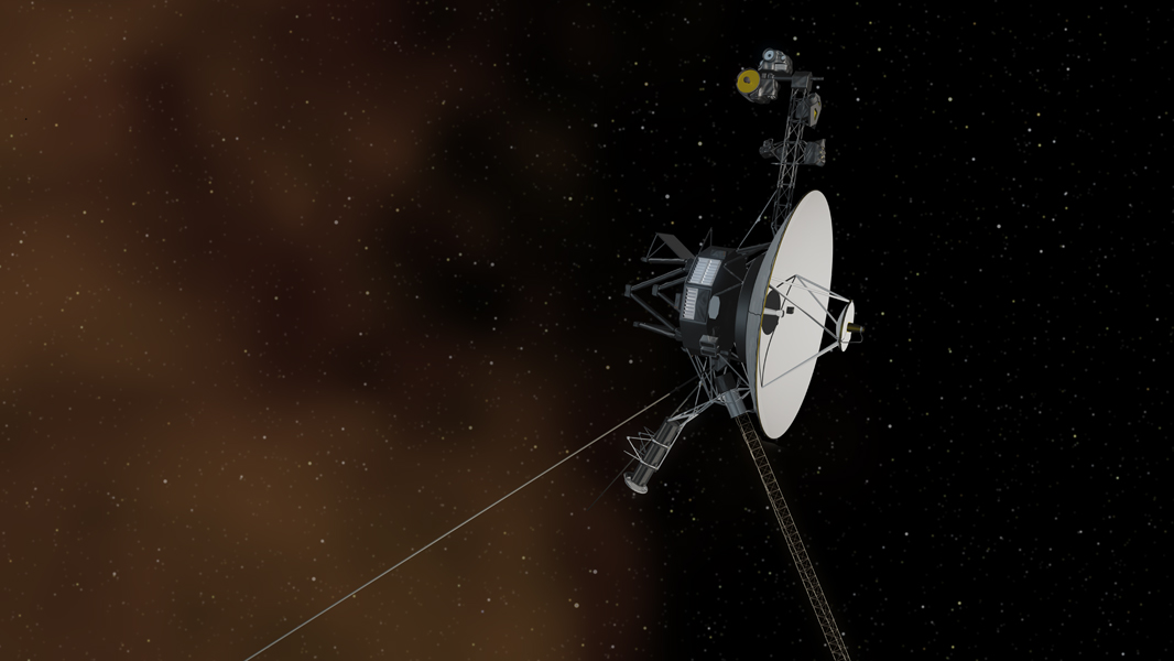 This artist's concept depicts NASA's Voyager 1 spacecraft entering interstellar space.