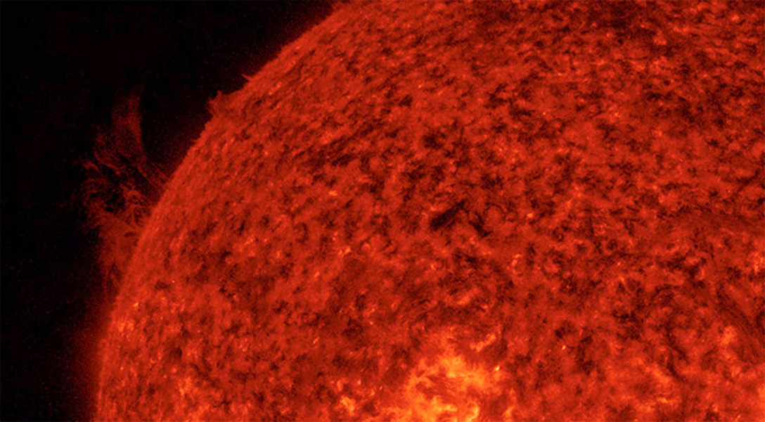 Strands and arches of plasma streamed above the edge of the Sun for over a day, pulled by powerful magnetic forces Aug. 11-12, 2016., observed by NASA's Solar Dynamics Observatory.