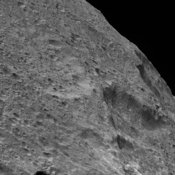 NASA's Dawn spacecraft captured this view of a region in the mid-southern latitudes of Ceres. The largest crater in the scene is Fluusa. Fluusa has a densely cratered floor and therefore is interpreted as an old impact feature.