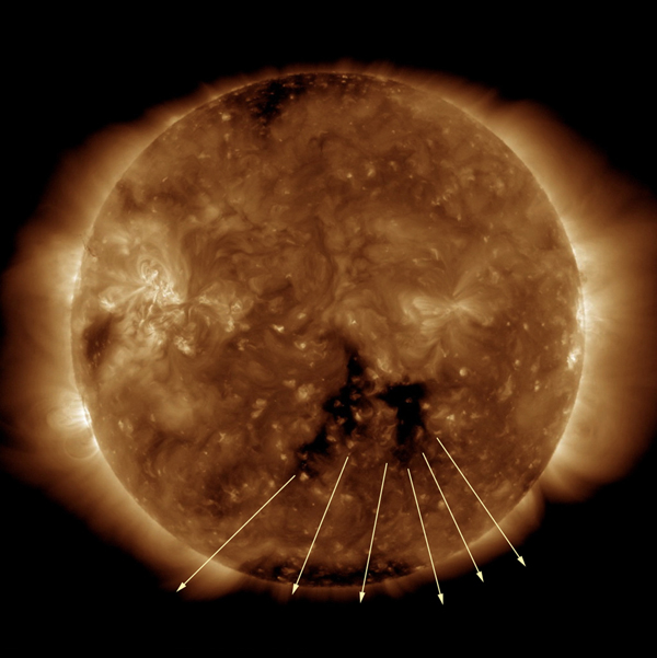 On Sept. 18-21,2016 NASA's Solar Dynamics Observatory spotted a dark coronal hole that was facing towards Earth for several days spewing streams of solar wind in our direction.