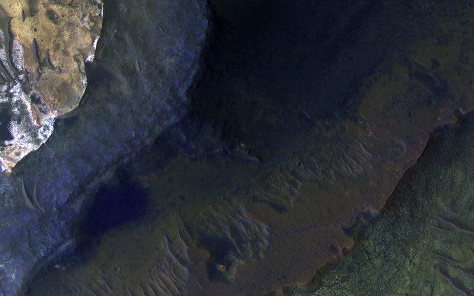 NASA's Mars Reconnaissance Orbiter spies Capri Chasma, located in the eastern portion of the Valles Marineris canyon system, the largest known canyon system in the Solar System.
