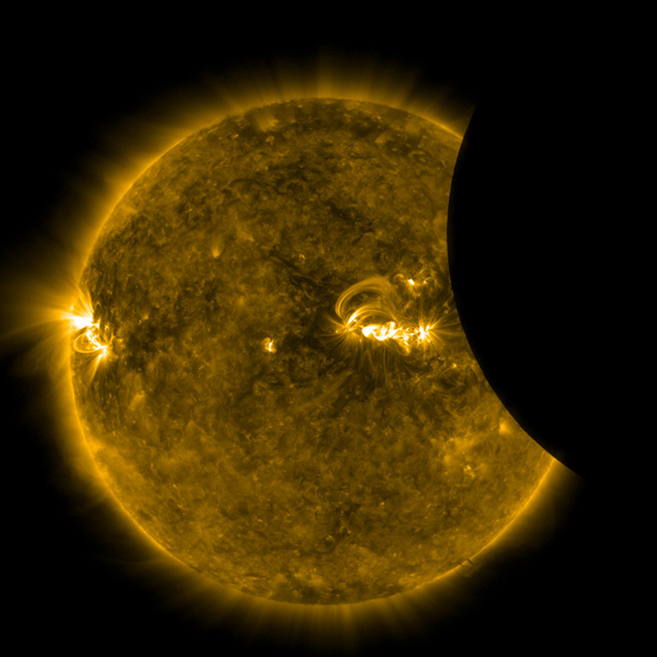 NASA's Solar Dynamics Observatory observed a partial eclipse that at its peak covered only about 14 per cent of the sun on Aug. 21, 2017.