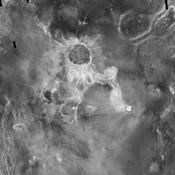 Crater Isabella is seen in this radar image from NASA's Magellan spacecraft. The second largest impact crater on Venus, the crater is named in honor of the 15th Century queen of Spain, Isabella of Castile.