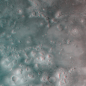 This image was taken by NASA's Mars Global Surveyor Cydonia region on Mars. 3D glasses are necessary to view this image.