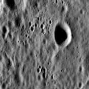 NASA's Mariner 10 spacecraft was coaxed into a third and final encounter with Mercury in March of 1975. This is one of the highest resolution images of Mercury acquired by the spacecraft.