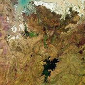 These images from NASA's Terra satellite are of tropical northern Australia acquired on June 1, 2000 (Terra orbit 2413) during the long dry season.