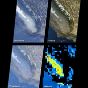 This illustration features images of southern California and southwestern Nevada acquired by NASA's Terra satellite on January 3, 2001 (Terra orbit 5569).