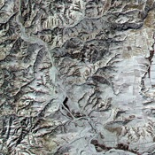 NASA's Terra satellite captured this image of the Great Wall of China in the northern Shanxi Province on January 9, 2001.