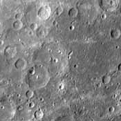 This image, from NASA's Mariner 10 spacecraft which launched in 1974, shows intercrater plains and heavily cratered terrain typical of much of Mercury outside the area affected by the formation of the Caloris basin.