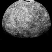 This image, from NASA's Mariner 10 spacecraft which launched in 1974, is of the southern hemisphere of Mercury.