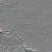 This anaglyph, from NASA's Shuttle Radar Topography Mission, shows the city of Bhuj, India. 3D glasses are necessary to view this image.