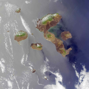 The Galapagos, situated in the Pacific Ocean roughly 1000 kilometers west of mainland Ecuador. This image from NASA's Terra satellite is MISR Mystery Image Quiz #4.