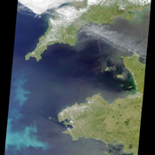 This image is a natural-color view of the Celtic Sea and English Channel regions, and was acquired by NASA's Terra satellite on June 4, 2001 during Terra orbit 7778.