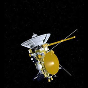 Artist's concept of NASA's Cassini spacecraft from December, 2002.