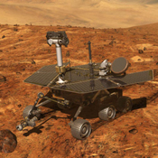 Artist's concept of NASA's Artist's concept of Mars Exploration Rover (MER) from December, 2002.