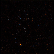 NASA's Galaxy Evolution Explorer took this image on May 21 and 22, 2003. The image was made from data gathered by the two channels of the spacecraft camera during the mission's