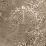 NASA is considering Eberswalde crater as a possible landing site for the Mars Science Laboratory mission; the spacecraft will arrive at Mars in August 2012.