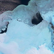 These views from NASA's Terra spacecraft  portray the Lutzow-Holm Bay region of Queen Maud Land, East Antarctica, on September 5, 2002.