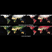 These images from NASA's Terra spacecraft provide global, seasonal summaries of a quantity called the Directional Hemispherical Reflectance (DHR), also sometimes referred to as the 'black-sky' albedo.