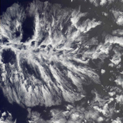 Actinae, or radial symmetry, is shown in this MISR Mystery Quiz #21 captured by NASA's Terra spacecraft.